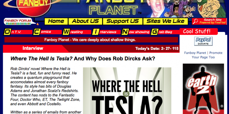 Where the Hell is Tesla? Interview on FanboyPlanet.com