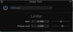 Garageband Limiter settings for Audiobook Master Track
