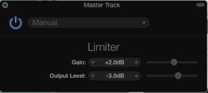 Garageband Limiter settings for Audiobook Master Track
