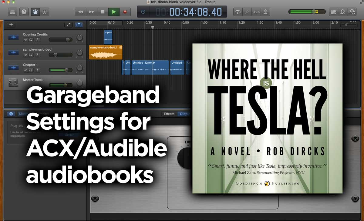 My Garageband Settings for Audiobooks (ACX/Audible)