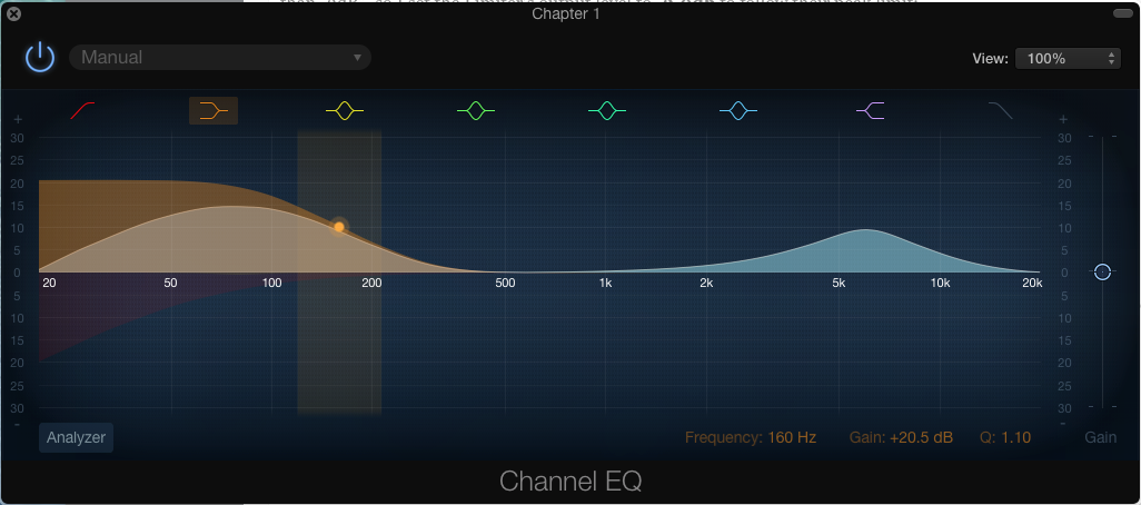 Garageband EQ settings for Audiobook Master Track
