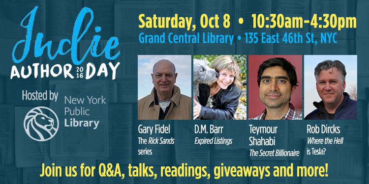 Join me at the first annual Indie Author Day, hosted by NY Public Library!
