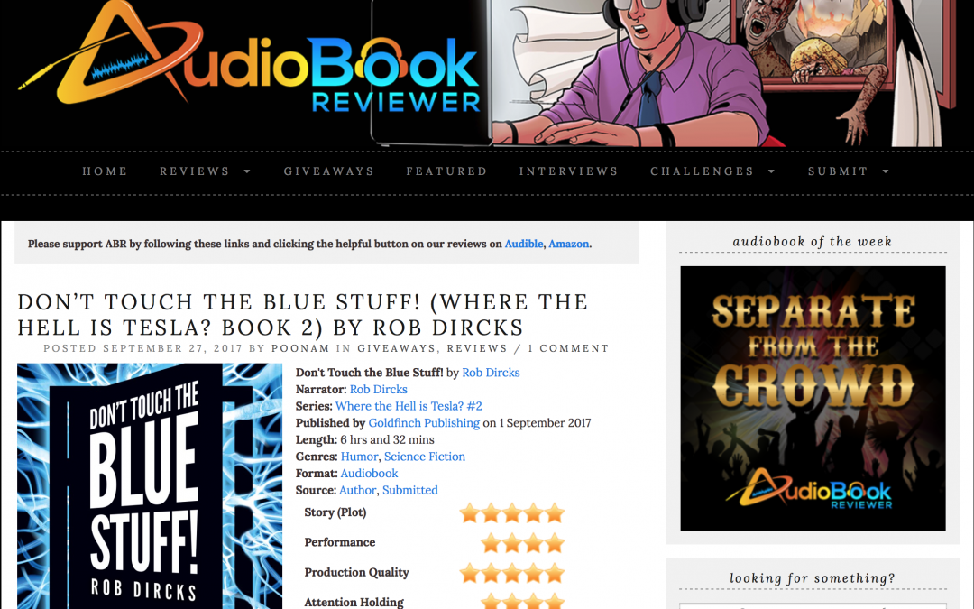AudiobookReviewer.com's Review is out… and it's a winner!